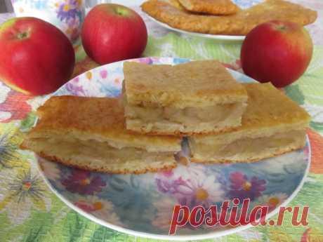 Творожный пирог с яблоками рецепт с фото пошагово - 1000.menu