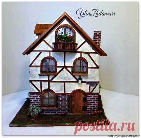 Фахверковый, миниатюрный домик с улицы Potsdamer Platz 25/1.