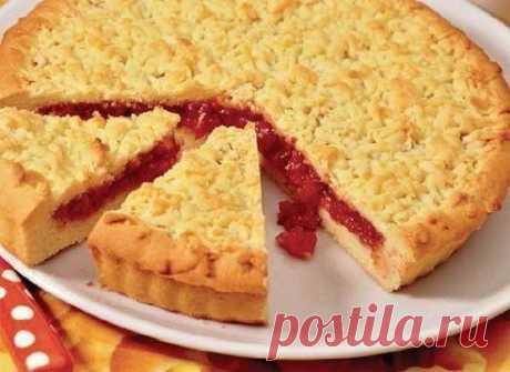 Песочный пирог с вареньем  Ингредиенты для приготовления песочного пирога: