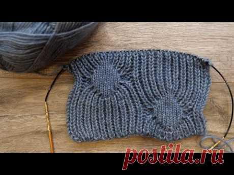 Узор «Паучки» спицами 🕷 Spiders Stitch knitting pattern 🕸