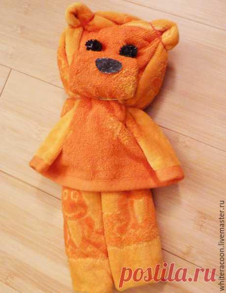 Упаковка из полотенца в форме медведя – Ярмарка Мастеров