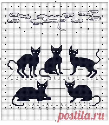 """Схемы """"Котики и зайчики"""" для филейного вязания »"""