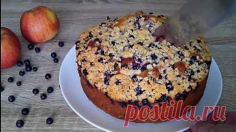 ЛЕТНИЙ фруктово - ягодный ПИРОГ! Простой пирог для домашнего чаепития!