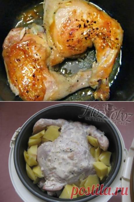 Вкусная домашняя курица запеченная в мультиварке | ХозОбоз - мы знаем о еде все..