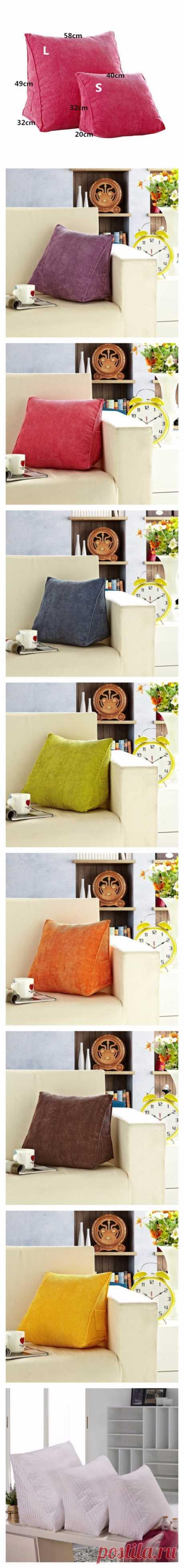 Треугольные спинки Подушка для дивана.Подушка Поясничные бандажи S L Размеры 7 цветов доступны купить на AliExpress.