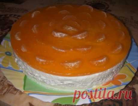 Торт «Мандарины под снегом»
