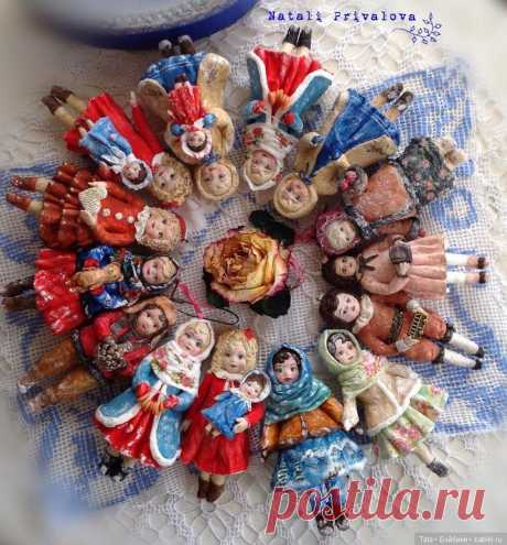 Ватные игрушки на елку, автор Наталья Привалова / Игрушки из ваты своими руками / Бэйбики. Куклы фото. Одежда для кукол