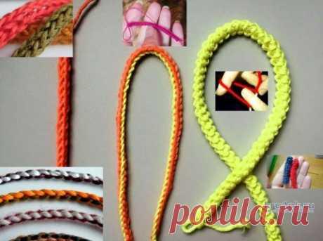 Как связать шнурок на пальцах