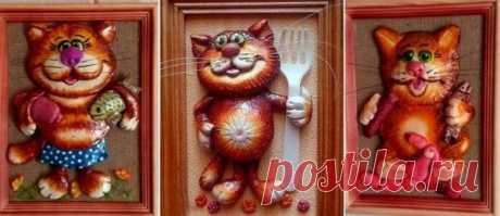 Кот из соленого теста своими руками | 33 Поделки | Яндекс Дзен