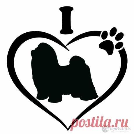 I Love My Shih Tzu Decal - Los mejores regalos para mascotas