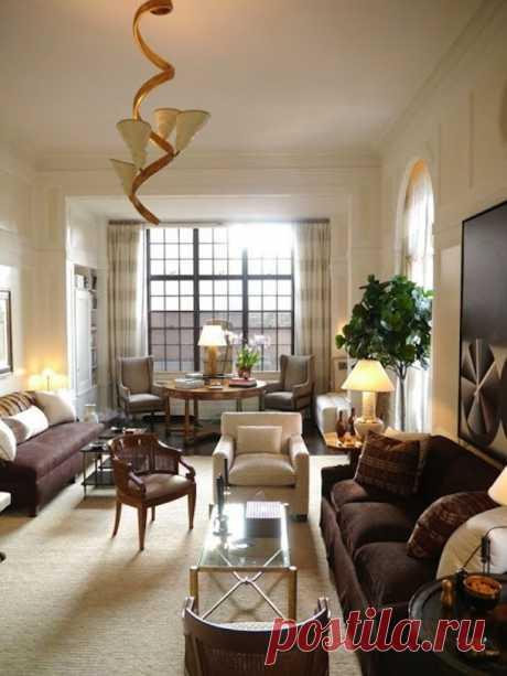 Оформление узкой комнаты — Интерьер и Декор