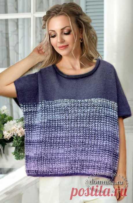 Модный женский пуловер спицами - простые модели пуловеров со схемами бесплатно