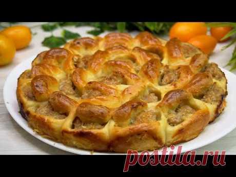 Муж Вас расцелует за этот мясной пирог!  Еще один обалденный рецепт, для любимых мужчин!