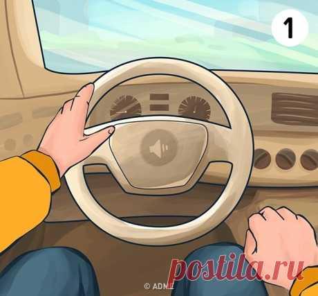 Тест: То, как вы держите руль, может о вас многое рассказать