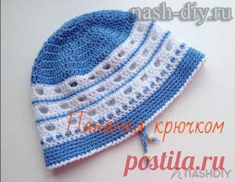Вязаная панамка крючком Crochet