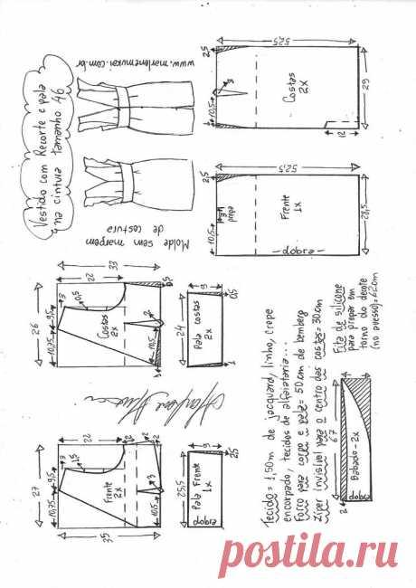 Легкие выкройки летней одежды 52 размера.   О рукоделии, и не только. 🧵✂️👜   Яндекс Дзен
