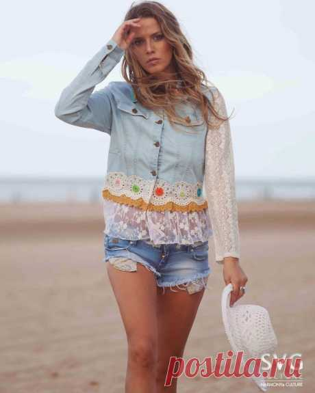 SAVAGE CULTURE Denim CALA CONTA 33616 Lace and Embroidery