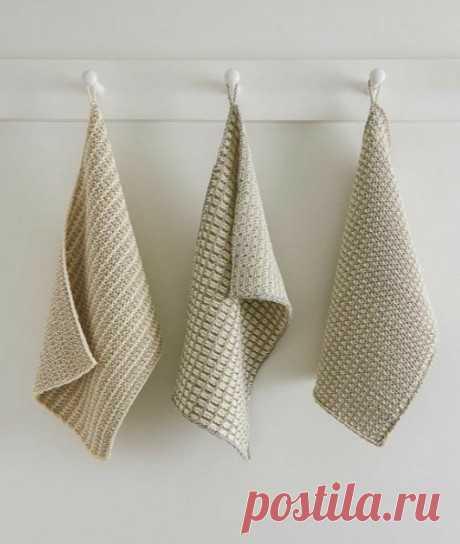 Вязаное полотенце, 20 схем и описания для вязания полотенец, Вязание для дома
