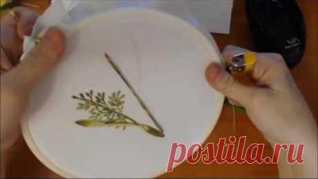 Вышивка лентами полевых трав и цветов Embroidery field flowers and herbs 刺绣领域的花卉和草药 Alsu G