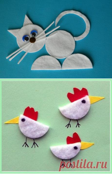 Поделки из ватных дисков — Сделай сам, идеи для творчества - DIY Ideas