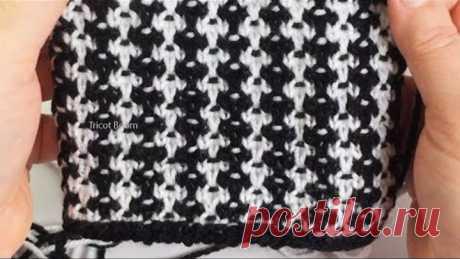 """""""Крапчатый твид"""" для двойки из жакета и прямой юбки / Вязание спицами."""