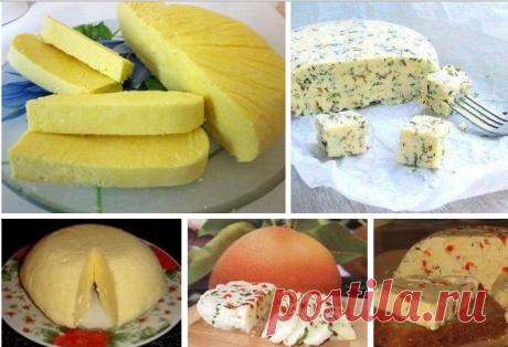 Вкусный домашний сыр.