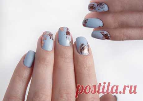 Маникюр с фольгой: 27 идей и фото блестящего nail-art