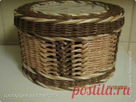 Плетение коробки на ажурных стоячках