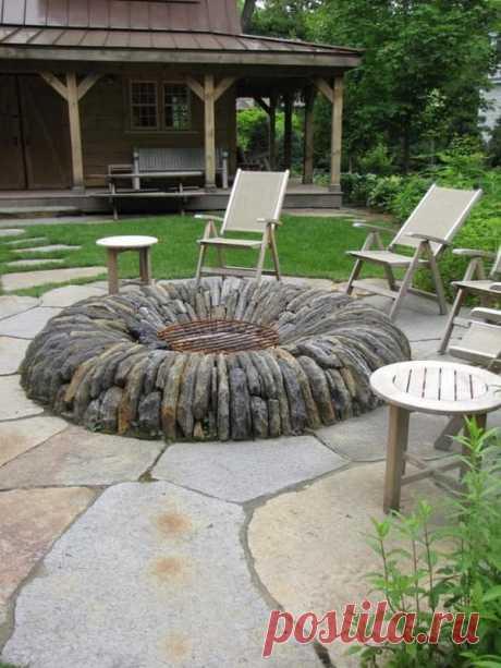 Костер на даче: 40 идей обустроить место отдыха быстро и недорого | Живу за городом