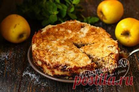 Насыпной яблочный пирог по-болгарски всего за 7 минут рецепт с фото