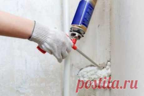 Способы очистки от монтажной пены | Делимся советами