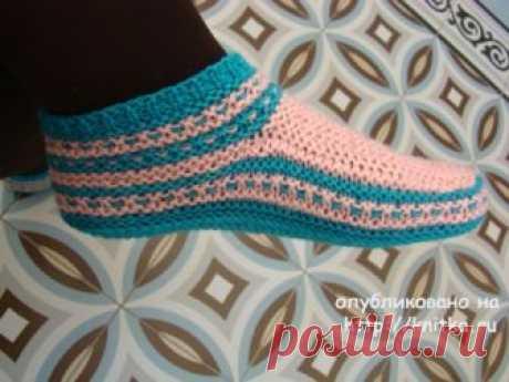 Knitted slipper spokes. Tatyana's works, Knitting for women