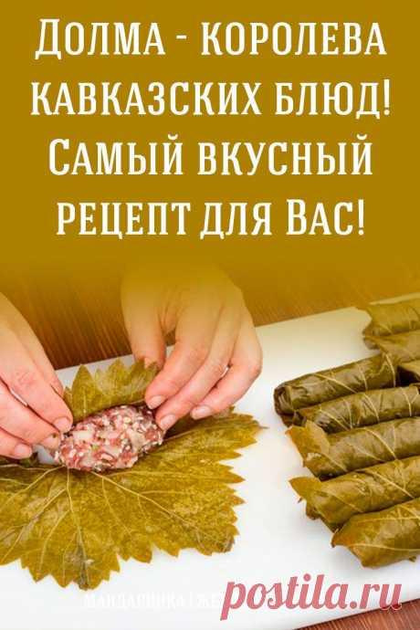 Долма — королева кавказских блюд! Самый вкусный рецепт для Вас!