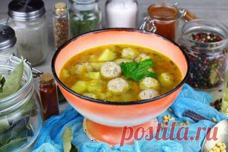 Сытный гороховый суп с фрикадельками: рецепт пошаговый с фото   Меню недели