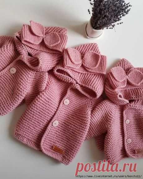 Уютный кардиган спицами для малыша (Вязание спицами) – Журнал Вдохновение Рукодельницы