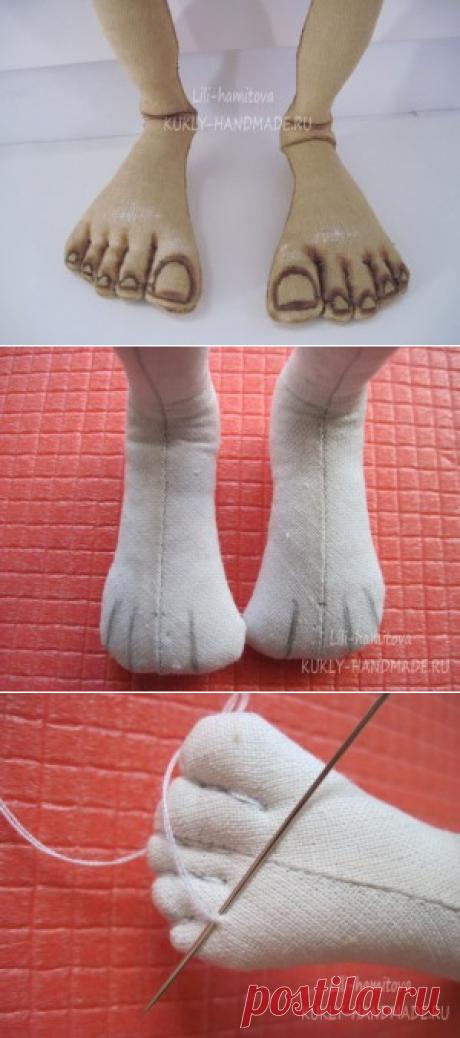 Мастер-класс № 8. Оформление пальцев ноги текстильной куклы Добби. — КУКЛА-МОДА-ЛЮКС