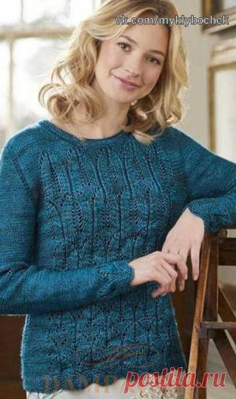 Красивый пуловер спицами #вязание #спицами