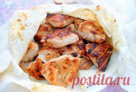 Сочный шашлык из куриной грудки ⋆ Кулинарная страничка