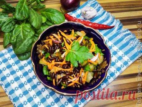 👌 Быстрый салат с корейской морковью и фасолью, рецепты с фото Салат с корейской морковью и фасолью отличный вкусный сытный салат который готовится очень быстро. Он прекрасно подходит ко вторым блюдам как дополнение и замечателен сам по себе к...