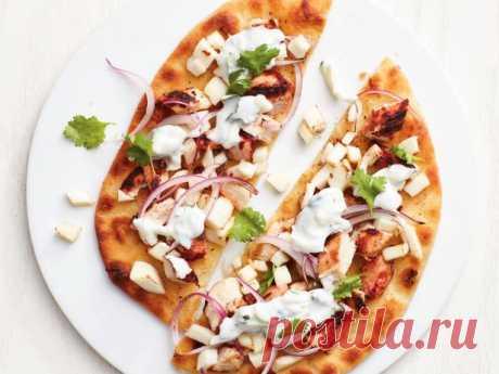 Пицца с курицей тандури по-индийски рецепт | Гранд кулинар