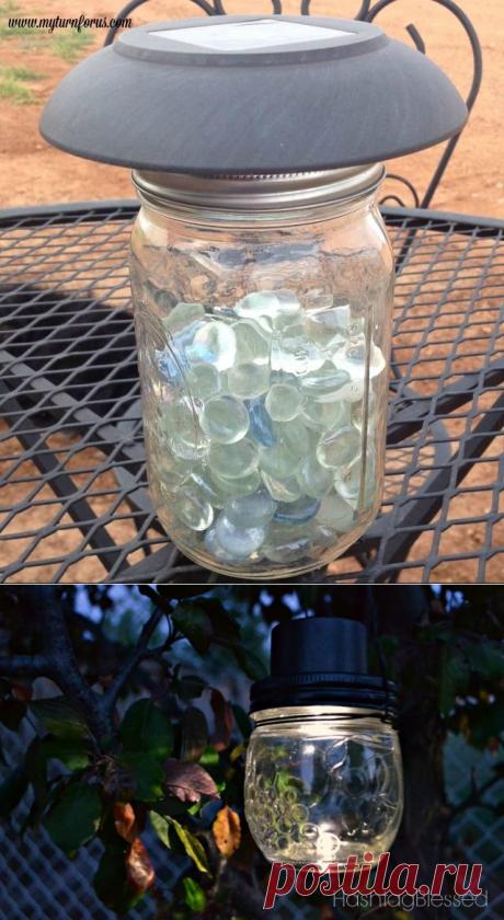 13 эффектные вещи, чтобы сделать ваш двор с помощью $1 солнечного света   Hometalk