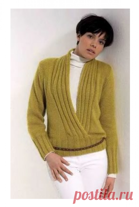 Пуловер с эффектом запаха из Schulana