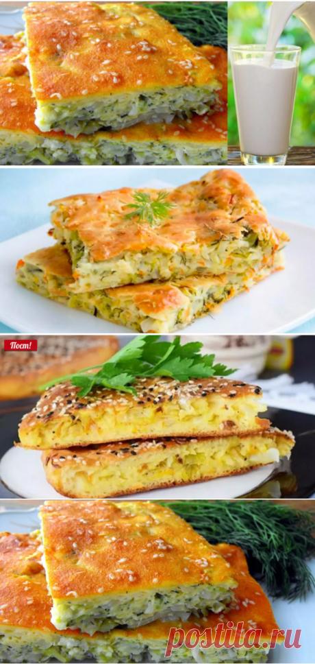 Как приготовить вкусный заливной пирог на кефире с капустой