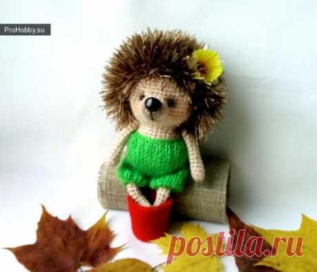 Ёжик крючком / Вязание игрушек / ProHobby.su | Вязание игрушек спицами и крючком для начинающих, мастер классы, схемы вязания