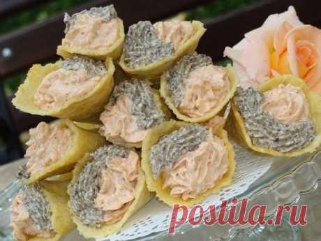 Сырные трубочки с кремом — Sloosh – кулинарные рецепты
