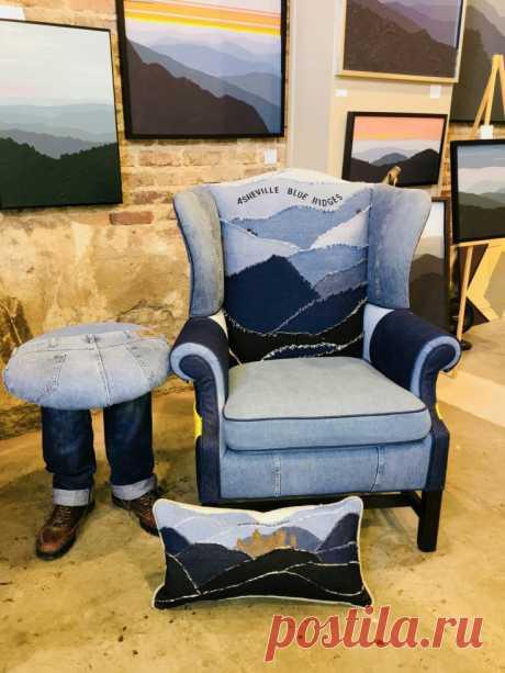 Джинсовые горы Модная одежда и дизайн интерьера своими руками