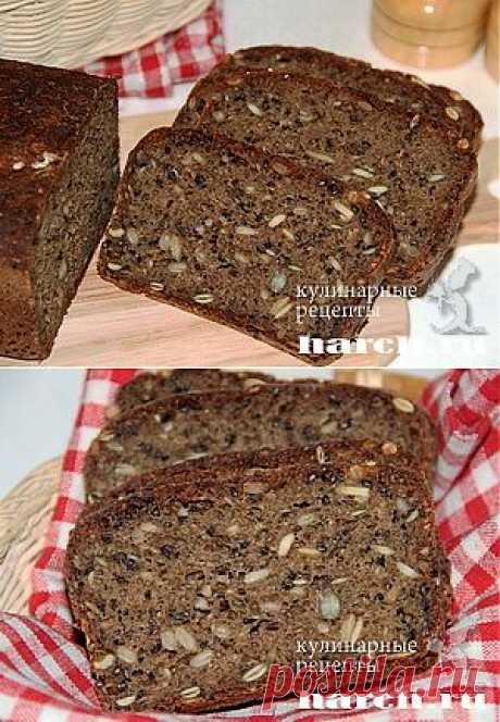 Ржаной мультизлаковый хлеб | Харч.ру - рецепты для любителей вкусно поесть