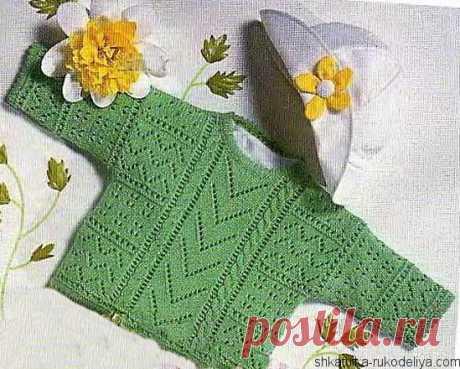 Узорчатый пуловер Узорчатый детский пуловер спицами с описанием. Вязание детям спицами