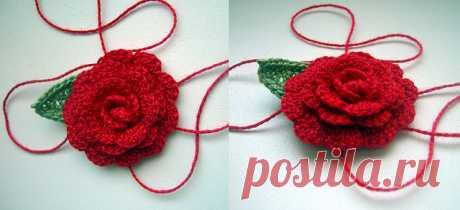 Роза крючком. Схема и описание