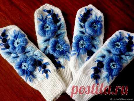 Варежки с вышивкой: идеи — Сделай сам, идеи для творчества - DIY Ideas